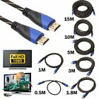 New Braided HDMI Cable V1.4 AV HD 3D for PS3 Xbox HDTV 1M - 10M Meters 1080P DF
