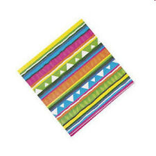 16 PRETTY Summer Party Cinco de Mayo Striped Luau Fiesta Drink  Snack Napkins