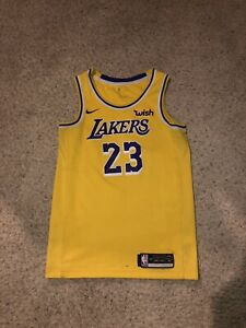 Details about lebron james lakers jersey authentic