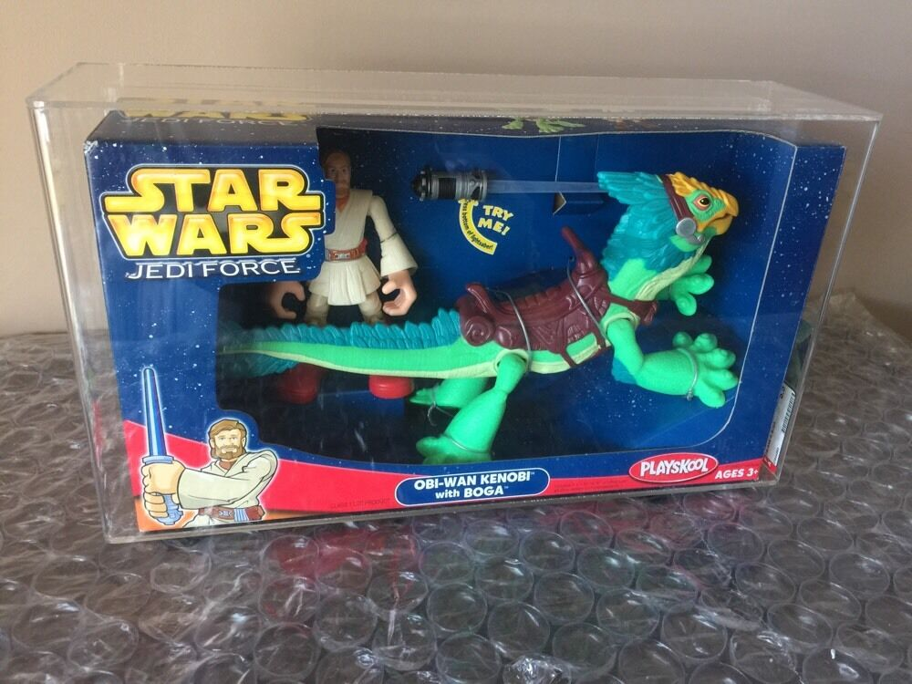 HASBRO STAR WARS 2004 PLAYSKOOL JEDI FORCE OBI-WAN KENOBI BOGA AFA 85 Or 8.5