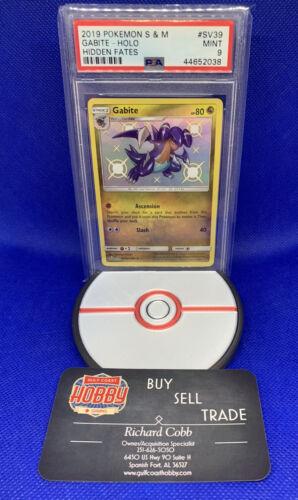 Pokémon PSA 9 Gabite Holo Shiny Vault Hidden Fates Mint