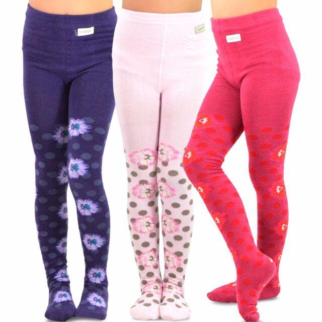TeeHee Kids Girls Fashion Footless Tights 3 Pair Pack Stripes