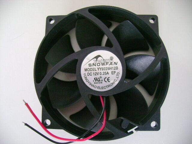 SNOWFAN,YY9225H12B,Gridseed USB Mining Fan,DC 12V 0.25A,Round Cooling Fan,New