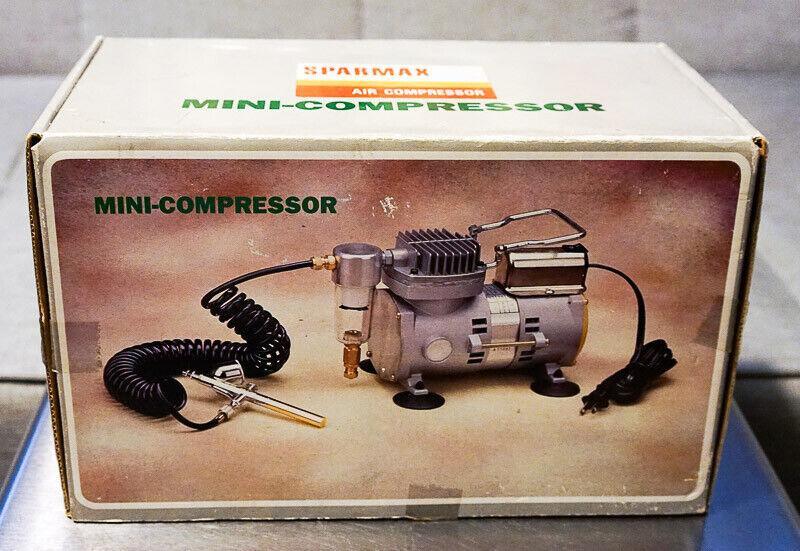 Sparmax Mini-Compressor TC-501 Briefly used 1 8 HP, Flow 21 I min, 4 60 BAR PSI