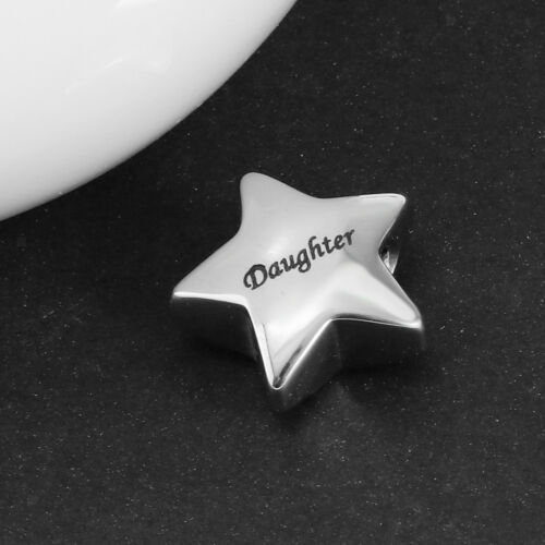 Stainless Steel Star Cremation Memorial Keepsake Pendant Necklace Jewelry