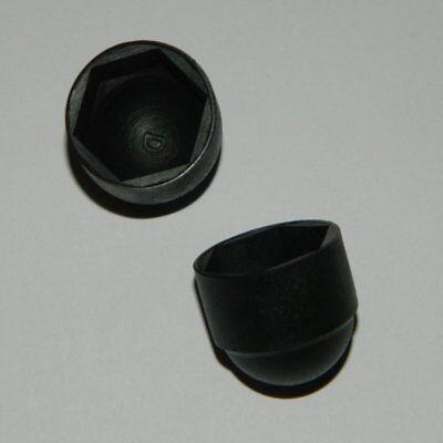 50 Sechskant Schutzkappen M10 Schwarz Für Sw 17mm Abdeckkappen