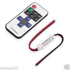 LED RGB 10 Tasten RF Funk Fernbedienung Steuergerät mini Controller Dimmer