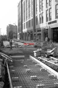 PHOTO-1990-METROLINK-CONSTRUCTION-MOSLEY-STREET-MANCHESTER-LOOKING-SW-TOWARDS-S