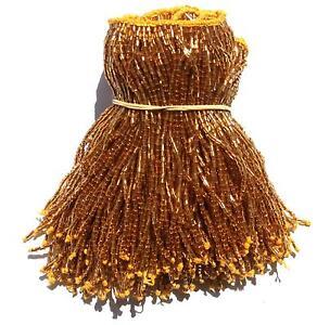 Perlfransen-10-cm-Gold-NEU-Bauchtanz-Orient-100-Handarbeit