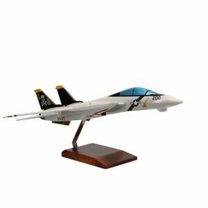 Grumman F-14A Tomcat VF-84 Jolly Rogers Limited Edition Large Mahogany Model