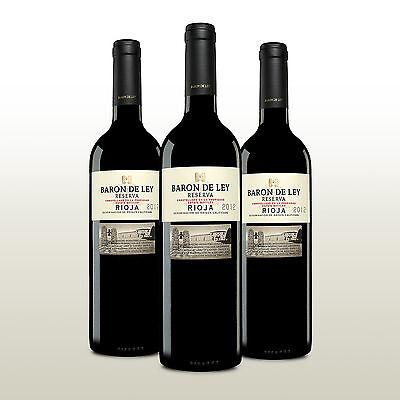 3 Fl. Rioja Reserva, Tempranillo aus Spanien, Rotwein mit Barriquereife