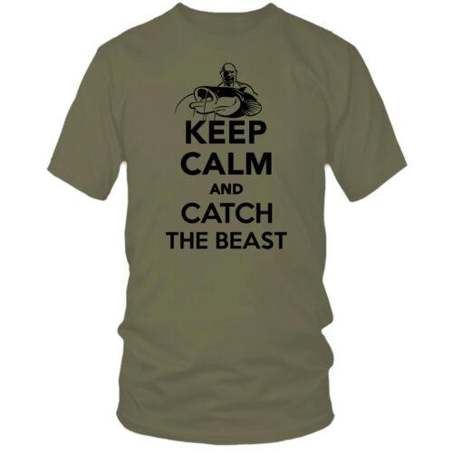 KEEP CALM AND.. CATFISH t-shirt predator zander perch bass pike hunter