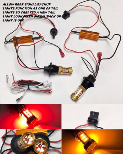 No Canbus Error T20 7440 992A Switchback 54 LED Rear Signal Light DRL for Toyota