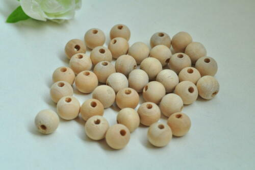 Round Wood Bead Rondelle Spacer Wooden Bead Natural Wood Bead Unfinished Handmad