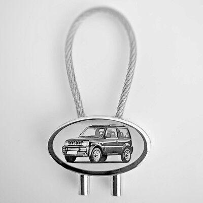 Suzuki Jimny ab 2019 Gravur Schlüsselanhänger Jimny als Fotogravur Textgravur