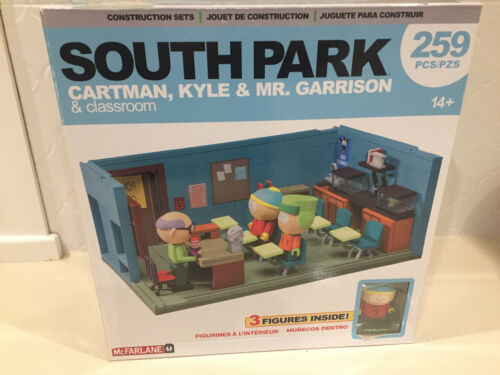 McFarlane Toys South Park Mr. Garrison, Kyle & Cartman & classroom NEW UNOPENED