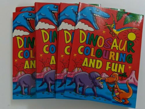 Dinosaur 12 x Mini Colouring /& Fun Books Party Loot Bag Toy Fillers Gifts