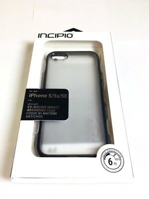 sneakers for cheap 38b31 59bda Incipio Octane Case/Cover For Apple iPhone SE / 5 / 5S in FROST/BLACK Color  NEW | eBay