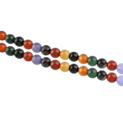 Achat natural perlas multicolor 8mm piedras preciosas semipreciosas achatstein bala g164