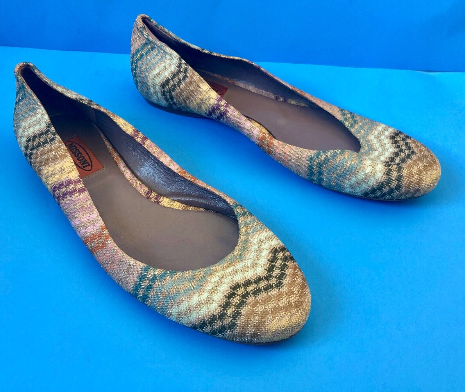 Missoni Ballet Flats EU 40 US 9 9.5 ITALY Authentic