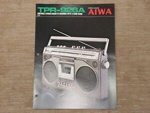 AIWA-TPR-926A-Portable-Cassette-Tape-Recorder-Original-Catalogue