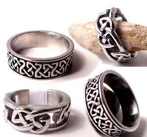 Mens-Celtic-Ring-Thumb-Knot-Wedding-Band-Ireland-Irish-Engagement-Anniversary