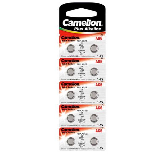CAMELION KNOPFZELLE 100x  BATTERIEN AG6 // LR921 // GP71A // 371 BATTERIE