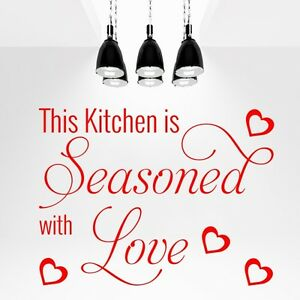 This Kitchen Is Seasoned With Love Wall Quote Wall Art Wall