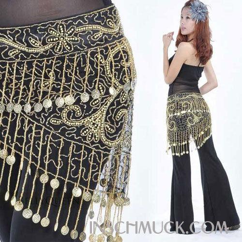 C32 Costume Danza Ventre Pareo Reggicalze Cintura Moneta