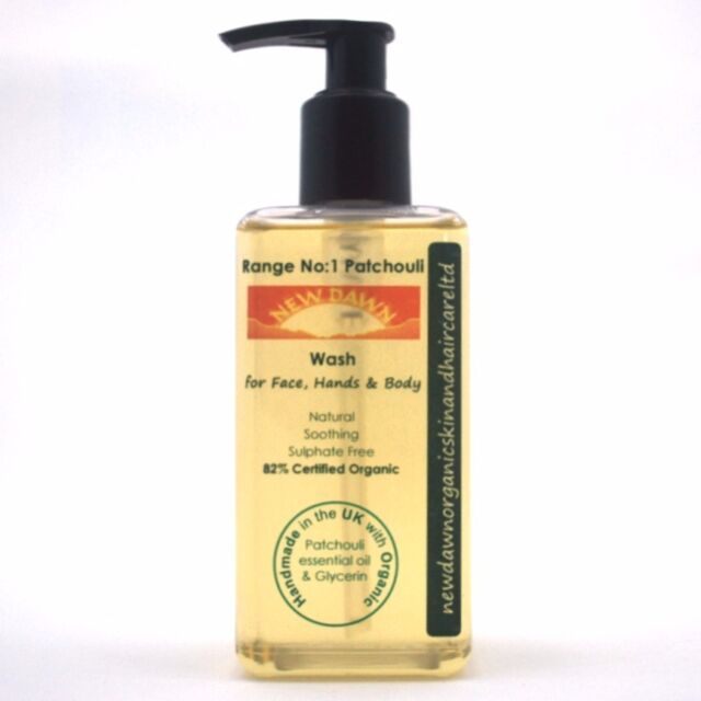 PATCHOULI FACE, HAND & BODY WASH - New Dawn Organic Handmade Skin Care Products