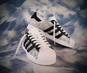 scarpe adidas superstar con glitter argento