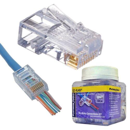 Connector Platinum Tools 202010J EZ-RJ45 Cat6 100 Piece