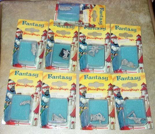 Rare (6) FANTASY HOBBY PRODUCTS Miniatures 25mm - DRUIDS & HAFLINGS German (NEW)