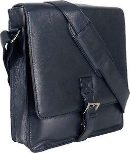 UNICORN-Real-Leather-iPad-Kindle-Tablets-amp-Accessories-Messenger-Bag-Black-1F