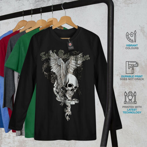 Wellcoda totale più fresche Cranio Da Donna Manica Lunga T-shirt salvare Casual Design