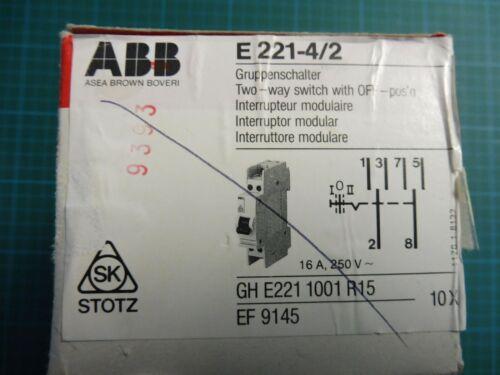 1 x grupos abb interruptores e 221-4//2; GH e221 1001 r15