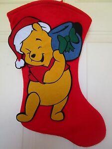 image is loading vintage felt 3 d disney winnie the pooh - Large Christmas Stocking