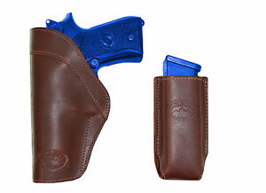 Barsony Brown Leather Yaqui Gun Holster for Kimber Llama 9mm 40 45 Full Size