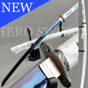 Hand-Forged-Blue-T1060-steel-blade-Japanese-samurai-sword-full-Tang-Katana-Sharp