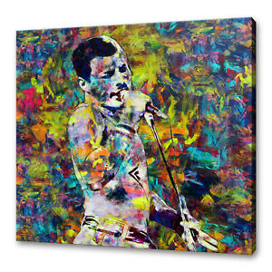 Freddie Mercury Queen acrylic canvas print picture wall art fast delivery