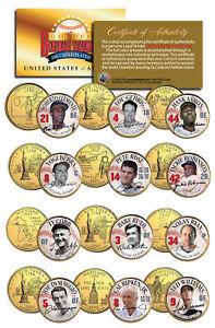 GOLDEN BASEBALL LEGENDS 24K Gold Plated State US Quarters 15-Coin Set WALGREENS