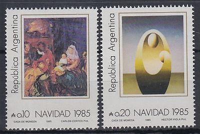 Süd- & Mittelamerika sr1935 Argentinien Argentinien Argentina 1985 ** Mi.1788/89 Weihnachten Christmas Gemälde