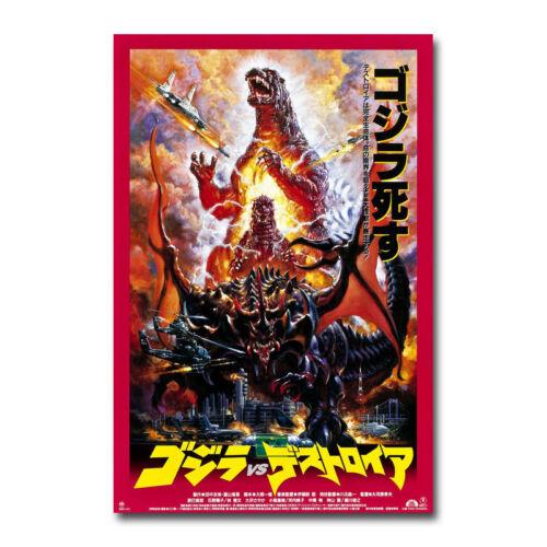Godzilla Vs Destroyer Hot Movie Art Canvas Poster 8x12 24x36 inch