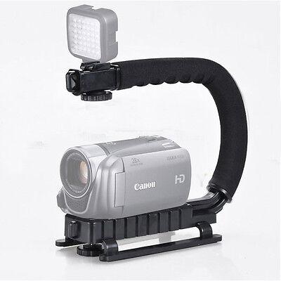 C Shape Video Handle Stabilizer Grip Bracket holder f DV DSLR Camera  Camcorder