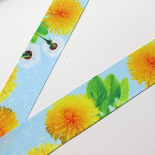 "10Yards 1/"" Grograin Ribbon Bows Flowers Appliques Craft Gift Packing Doll"