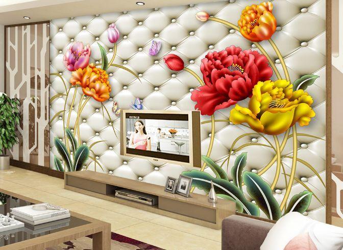 3D fiori Farbeati 977 Parete Murale Carta da parati immagine sfondo muro stampa