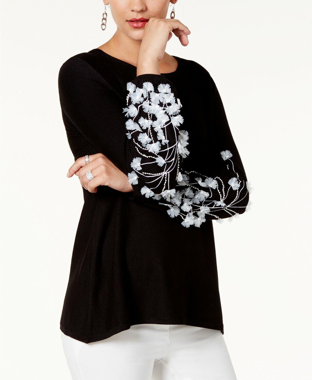 Alfani Plus Size Size Size Embellished Tunic Sweater 0df3ce