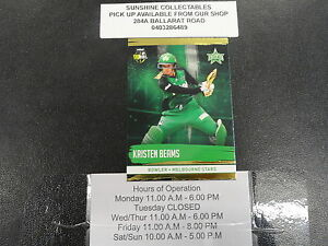 2016/17 CRICKET TAP N PLAY GOLD CARD NO.146 KRISTEN BEAMS MELBOURNE STARS