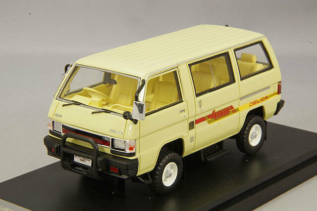 1 43 Hi-Story Mitsubishi Delica Star Wagon 4WD GLX superar los 1985 Beige HS178BG