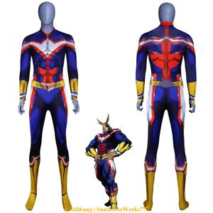 Anime My Hero Academia All Might Cosplay Costume Zentai Bodysuit Jumpsuit Fancy